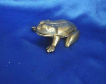Brass Frog with Opening Back