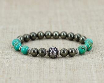 Libra bracelet Men gift-for-men birthday gift Healing crystal and stone Libra zodiac jewelry October birthstone bracelet Turquoise bracelet