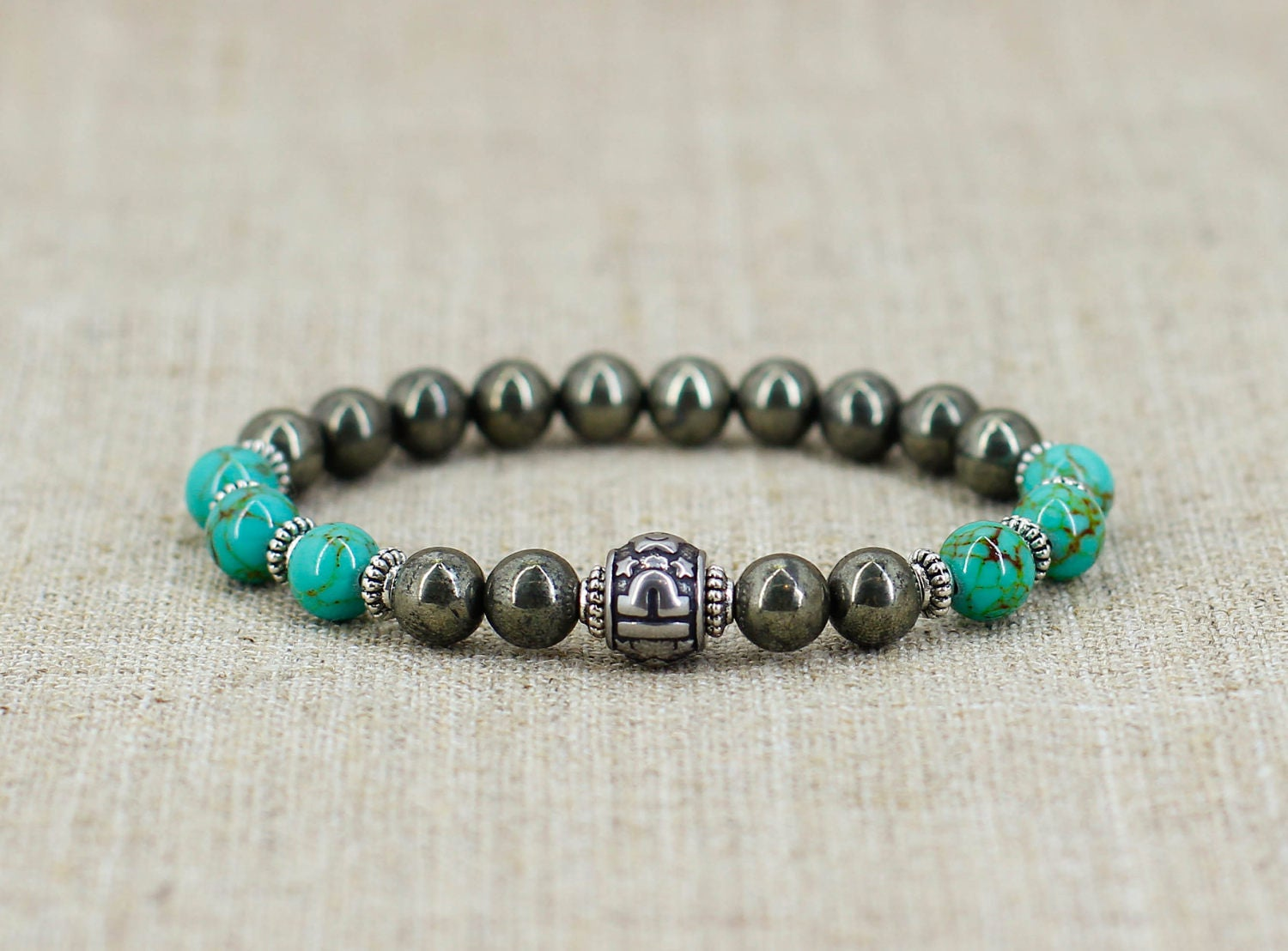 Libra Bracelet Men Gift For Birthday Healing Crystal And Stone Zodiac