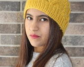Yellow Cable Beanie