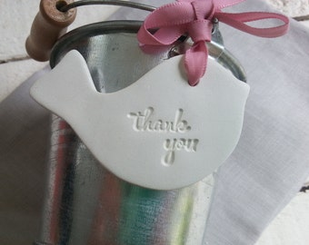 Wedding Favour Tag Thank you Bird