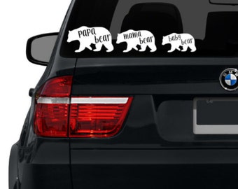 Baby Bear Decal Etsy - Cool car decals designpersonalized whole car stickersenglish automotive garlandtc