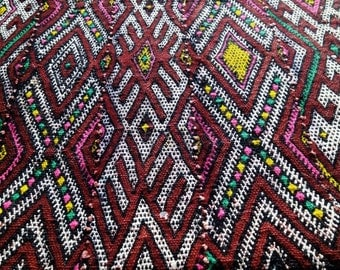 Traditional moroccan kilim cushion cover, berber african tribes