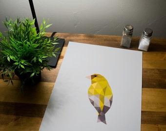 Polygon Goldfinch Print Art Poster 11x17 18x24 24x36