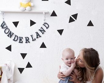 Geometric triangle wall decal, Geometric wall stickers, Nursery triangle, Triangle wall decals, Triangle stickers, Wall stickers,   #031
