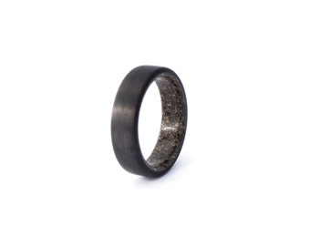 carbon fiber ring with dinosaur bone wide wedding and engagement ring for men and - Dinosaur Bone Wedding Ring