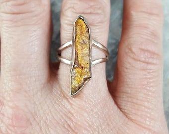 Orange Kyanite Ring - Size 7