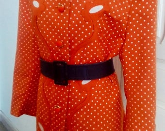 60s vintage jacket flowers and polka dots