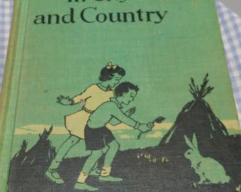 In City & Country Silver Burdett 1940 School Reader Level 1/2