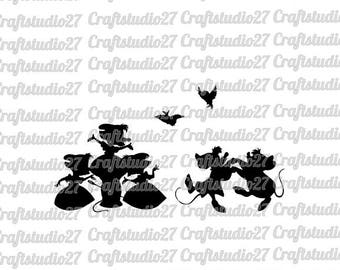 Digital file dancing mice from Disney calssic Cinderella SVG PDF and more for print, cameo and other cutting machines
