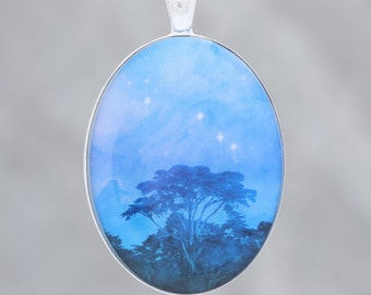 Trees Dreaming - Beautiful glow-in-the-dark Astronomy Pendant from the Carina Nebula - B4