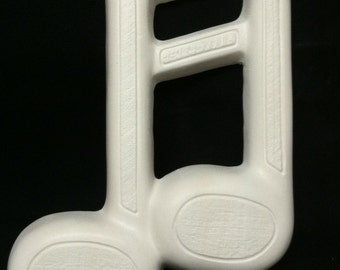 Music Note Sculpture Unpainted Plaster Art & Craft Project for Painting