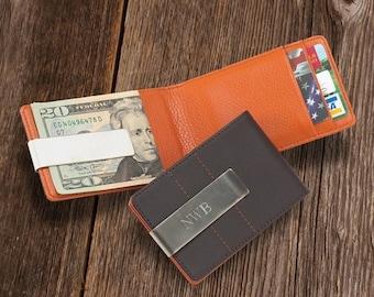 Personalized Money Clip Wallet - Slim Wallet - Credit Card Wallet - Mens Wallet - Engraved Money Clip