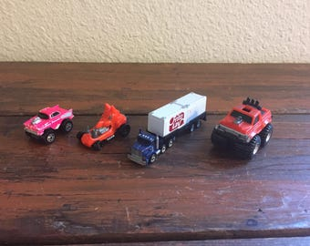 Lot of Four Vintage Cars/ Micro Machine/ Road Champ/ Mattel/ Galoob