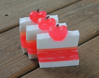 Apple Soap - Simple Bar Soap - Big Apple Gift - Teachers Apple Gift - Candy Apple - Handcrafted Glycerin Soap - Green Apple Soap - Poison