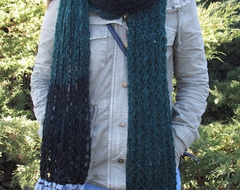 Knit Scarf, Super Long Scarf,  Ten Foot Long Scarf, Tassel Scarf, Fringe Scarf, Gift for Her, Chunky Oversize Scarf