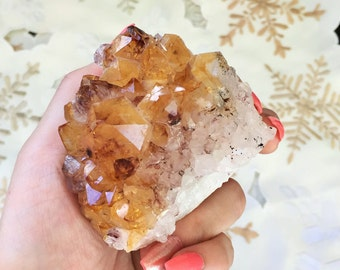 Citrine Crystal Cluster infused w/ Reiki Perfect Home Decor, Altar Tool w/ Reiki