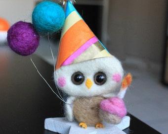cake topper birthday owl