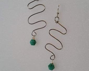 Turquoise Wire Earrings