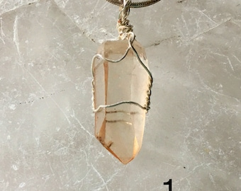 Lemurian Seed Crystal Pendants   Several New Age Selections