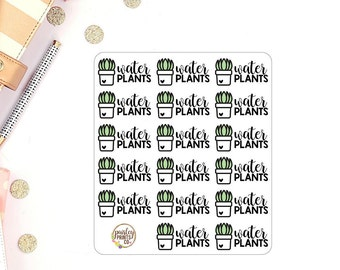 Water Plants Reminder Planner Stickers