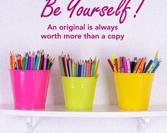 Inspirational Quote Wall Sticker - Be Yourself Wall Decal