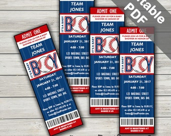 Baseball Baby Shower Invitations. Baby Boy Invites. Editable. Printable. Instant Download.