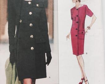 Vintage 90s Vogue Paris Original 1818 Givenchy Dress Sewing Pattern Uncut with Label