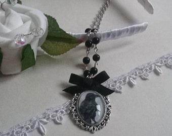 Eternal Raven Cameo Necklace