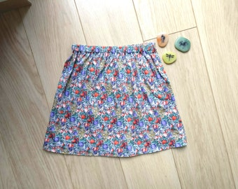 Vintage skirt size 4-5, green skirt girl aged 4-5 years, vintage skirt size 4, green skirt size 5, vintage skirt 4 years, skirt 5 years