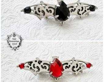 Silver bat hairclip-gothic bat hairclip-hair accessories-Available in two colours-Choose colour