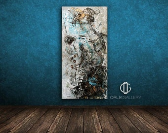 "Print of an Artwork Titled: ""Hypnos"", High Quality Canvas"