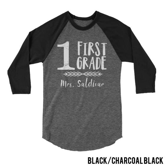 "First Grade ""Arrow Love"" Customizable Teacher Tshirt 