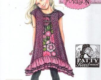 FREE US SHIP Sewing Pattern Simplicity 1596 Uncut New Girls Patty Reed Designs Madison Dress Size 3 4 5 6 7 8 Uncut New