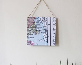 Square Map Wall Hanging - Choose your Location