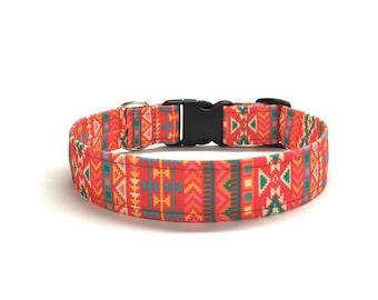 Southwestern Dog Collar, Boho dog collar, bohemian dog collar, aztec dog collar, geometric dog collar