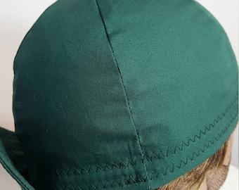 Dark Green Cap, Welding Cap, Baseball Hat, Mens Hat, Boys Hat, Ladies Hat, Girls Hat, Cycling Cap, Welders Cap, Active Wear,Hiking Accessory