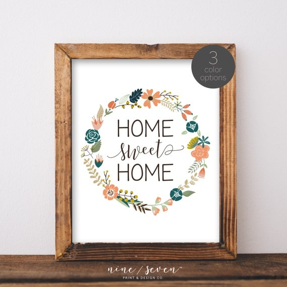 Https Www Etsy Com Listing 236293502 Home Sweet Home Printwall Decorhome Ref Shop Home Active 20