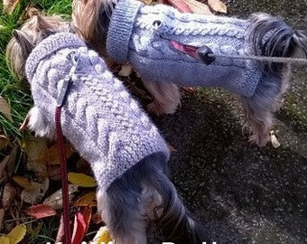 Cabled Fall Dog Sweater PDF Pattern
