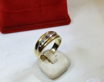 Ring gold 585 ruby sapphire emerald diamond GR126