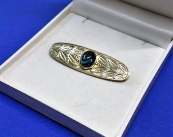 Brooch silver 835 tourmaline blue nostalgia Lavanya handmade SB103