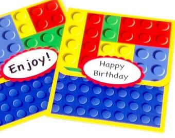 Gift Card Holder, Lego Birthday Gift Card Holder, Legos Money Holder, Legos Gift Card Holder, Kid, Child, Boy, Money Card, Handmade
