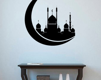 Mosque Vinyl Decal Islamic Wall Sticker Religious Wall Decor Wall Art Decorations (10mqe)