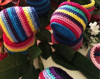"""Crochet Pattern for the """"Mysterious Jars"""". 3 types"""