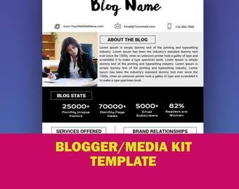 Printable kite etsy for Advertising media kit template