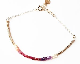 Sapphire and Amethyst - 925 - silver bracelet