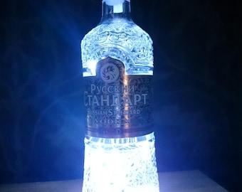 wodka flasche lampe etsy. Black Bedroom Furniture Sets. Home Design Ideas