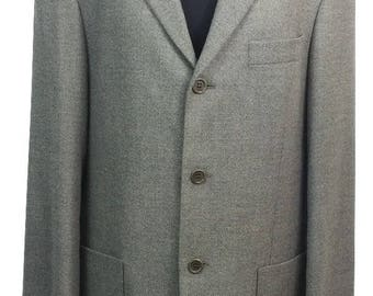 St Michael Blazer Chest 40in Grey St Michael Suit Jacket Vintage Mens Blazer Vintage Jacket St Michael Jacket Grey Jacket Formal Wedding