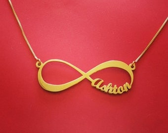 Personalised Infinity Necklace Name Infinity Necklace 14k Infinity Necklace With Name Women's Infinity Necklace Mom Infinity Necklace