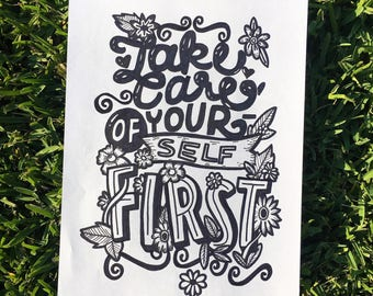 Take Care of Yourself - typography